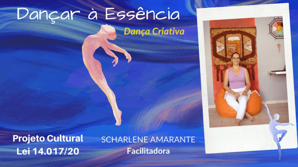 banner do Dançar à Essência com foto de Scharlene Amarante